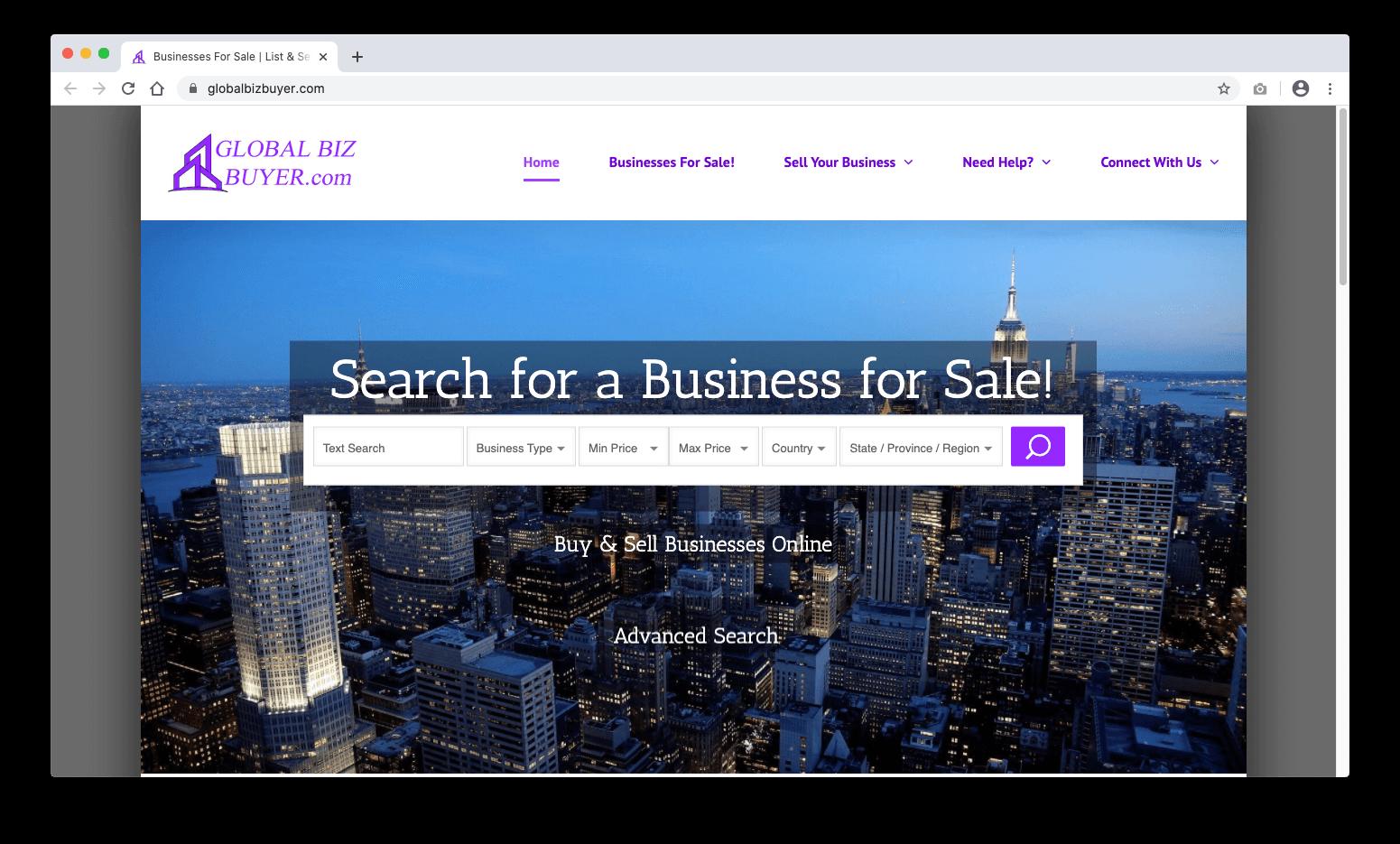 Global Biz Buyer Website | Buy & Sell Bossiness Online