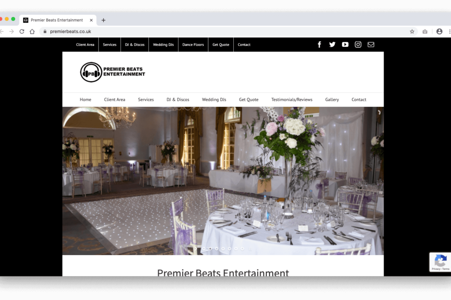 Premier Beats Entertainment Website